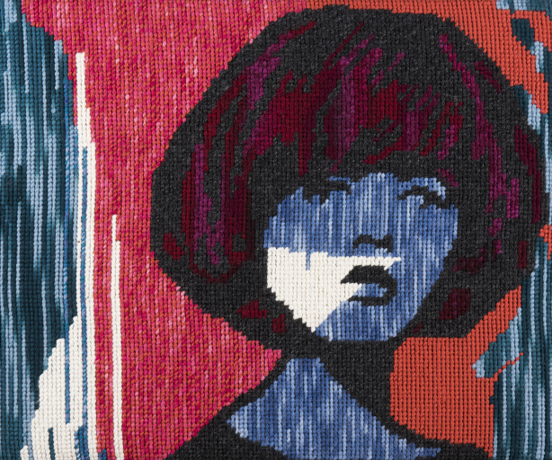Slowly Taking Dictation, tapestry by Niki Mcdonald