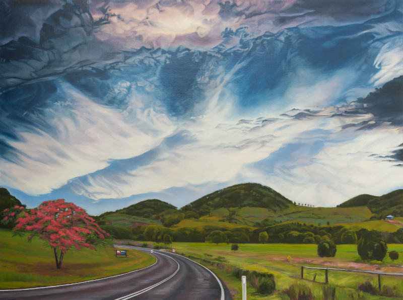 The Road to Mooball, oil on linen by Sandra Guy